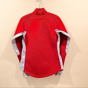 Nike Tops - Nike sphere thermal half zip thumb holes Red